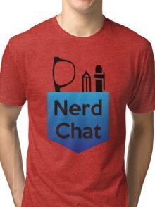 Nerd Chat Podcast Logo (Gradient) Tri-blend T-Shirt