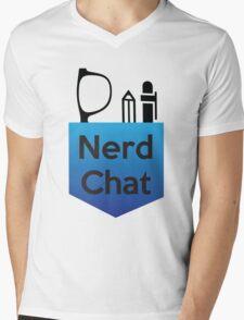 Nerd Chat Podcast Logo (Gradient) Mens V-Neck T-Shirt