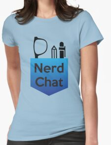 Nerd Chat Podcast Logo (Gradient) Womens Fitted T-Shirt