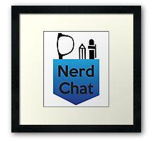 Nerd Chat Podcast Logo (Gradient) Framed Print