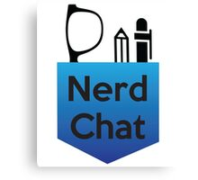Nerd Chat Podcast Logo (Gradient) Canvas Print
