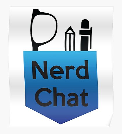 Nerd Chat Podcast Logo (Gradient) Poster