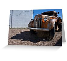 Old Vehicle VII  BW - Ford Truck Color Greeting Card