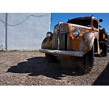 Old Vehicle VII  BW - Ford Truck Color Photographic Print