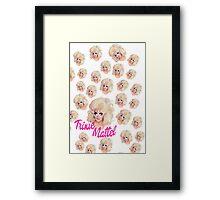 Trixie Mattel- Barbie Pattern Framed Print