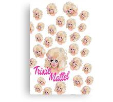 Trixie Mattel- Barbie Pattern Canvas Print