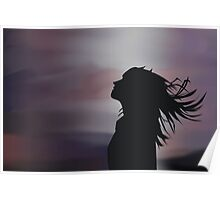 Silhouette of a girl! Poster