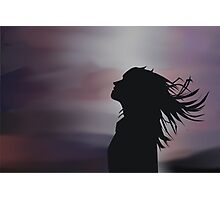 Silhouette of a girl! Photographic Print