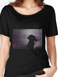 Silhouette of a girl! Women's Relaxed Fit T-Shirt