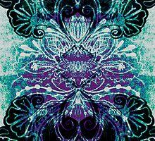 Light jade symmetry pattern by PipinzPixlez