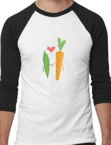 Peas & Carrots in love Men's Baseball ¾ T-Shirt