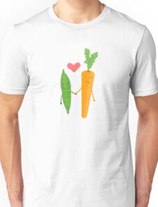 Peas & Carrots in love Unisex T-Shirt