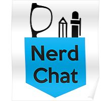 Nerd Chat Podcast Logo (No Gradient) Poster