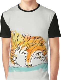 Thirsty Tiger Graphic T-Shirt