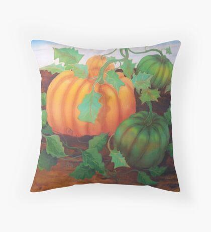 Silk art Neil Welsh exclusive designs-pumpkins Throw Pillow
