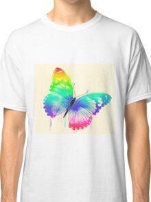 Rainbow Washed Butterfly Classic T-Shirt
