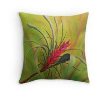 Silk art Neil Welsh exclusive designs- Kangaroo Paw Flower Throw Pillow