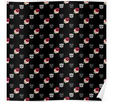 Autobot floral repeat pattern  Poster