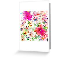 joyful flowers Greeting Card