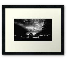 Black Clouds and Silver Linings Framed Print