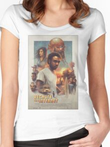 Childish Gambino Movie Poster Women's Fitted Scoop T-Shirt