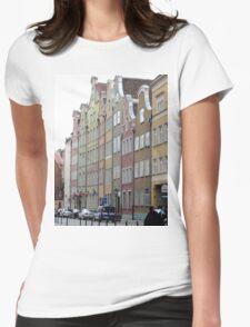 Long Street (market) Gdansk, Poland  Womens Fitted T-Shirt