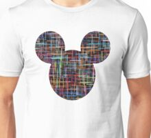 Mouse Multicoloured Abstract Patterned Silhouette Unisex T-Shirt