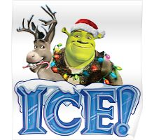 ICE ! MONSTERS - HAPPY CHRISTMAS Poster