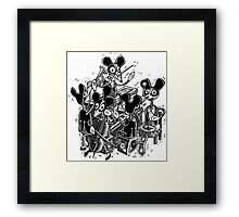 Mouse Band Windup Toy Framed Print