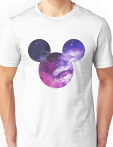 Mouse Galaxy Patterned Silhouette Unisex T-Shirt