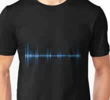 Blue wave of sound Unisex T-Shirt