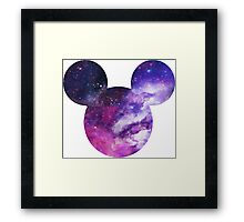 Mouse Galaxy Patterned Silhouette Framed Print