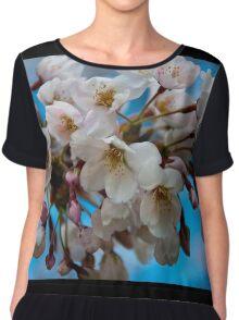 Japanese Cherry Blossoms Chiffon Top