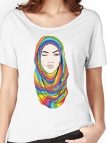 Rainbow Hijab Women's Relaxed Fit T-Shirt