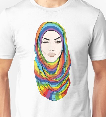 Rainbow Hijab Unisex T-Shirt