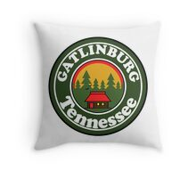 GATLINBURG TENNESSEE GREAT SMOKY MOUNTAINS NATIONAL PARK SMOKIES Throw Pillow