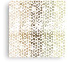 Gold Dots Abstract Canvas Print