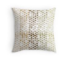 Gold Dots Abstract Throw Pillow