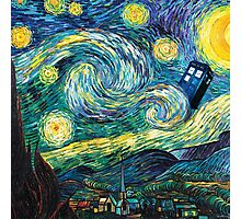 Tardis Starry Night Photographic Print