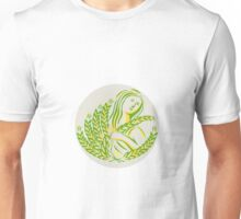 Demeter Harvest Wheat Grain Circle Retro Unisex T-Shirt