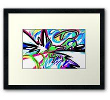 Shiny Espeon   Psybeam Framed Print
