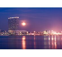 San Diego With Moonrise Photographic Print