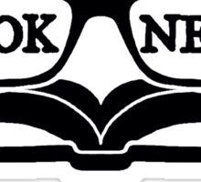 Book Nerd (Black) Sticker