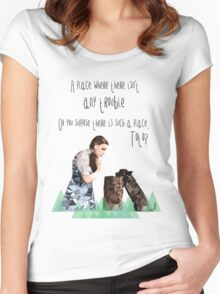 Dorothy and Toto's Place Women's Fitted Scoop T-Shirt