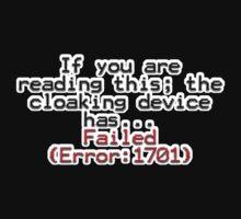 Error 1701 One Piece - Short Sleeve