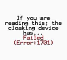 Error 1701 One Piece - Long Sleeve