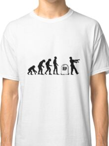 Funny zombie Evolution RIP Classic T-Shirt