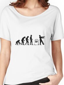 Funny zombie Evolution RIP Women's Relaxed Fit T-Shirt