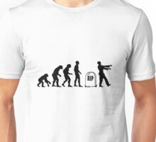 Funny zombie Evolution RIP Unisex T-Shirt