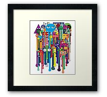 melting faces classic Framed Print
